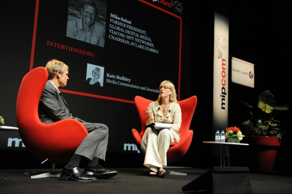 Kate Bulkley and Mika Salmi at Mipcom 2009