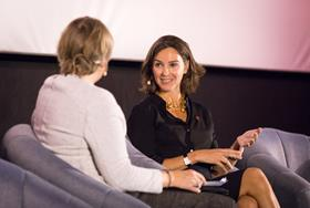 Kate Bulkley with Alex Mahon, Chief Executive Officer, Channel 4