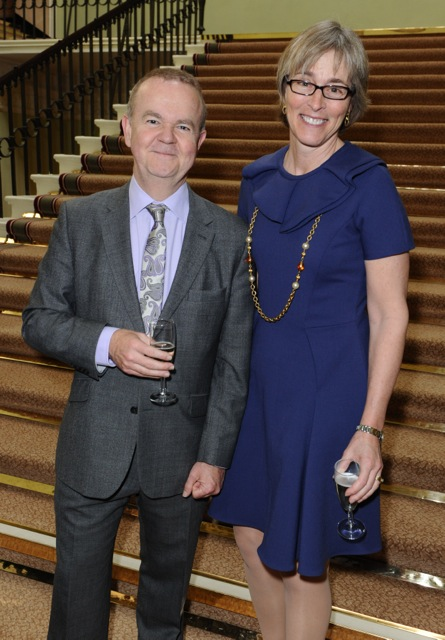 Kate with Ian Hislop, editor of Private Eye and co-writer of The Wipers Times, winner of the Best Single TV Drama for 2013.