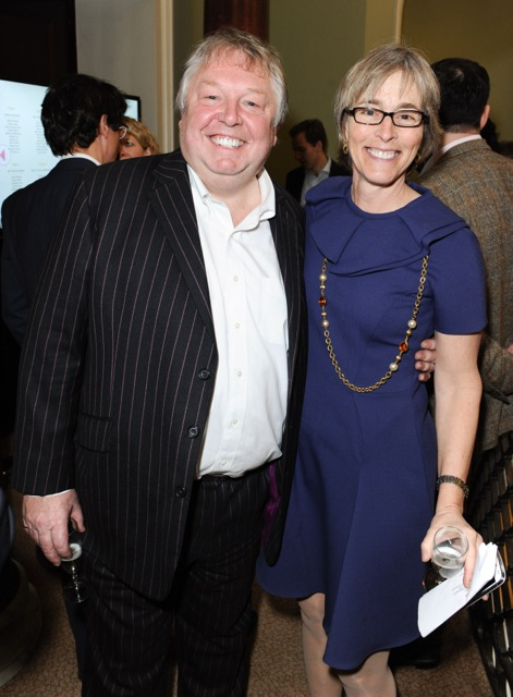 Kate with Nick Ferrari of LBC, winner of the Best Radio Broadcaster