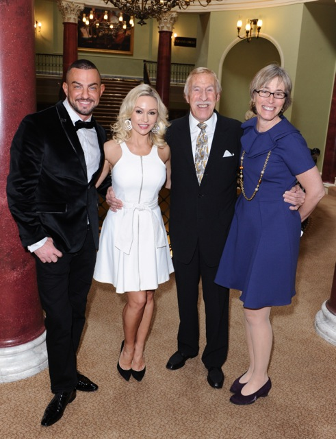 Strictly's Robin Windsor, Kristina Rihanoff and Bruce Forsyth with Kate