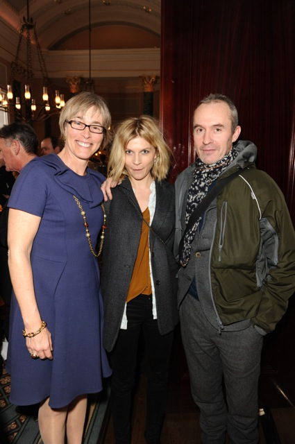 Kate with actors Clemence Posey and Stephen Dillane of The Tunnel (Best Multichannel TV winner)