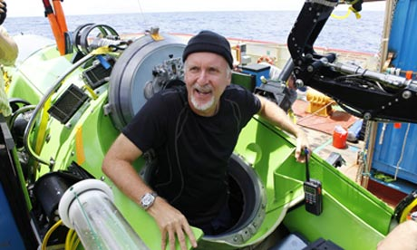 James Cameron emerges from the Mariana Trench after shooting 3D film.