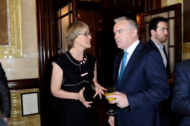 Kate with Huw Edwards, BBC - BBC won for 2012 Olympics Innovation Award
