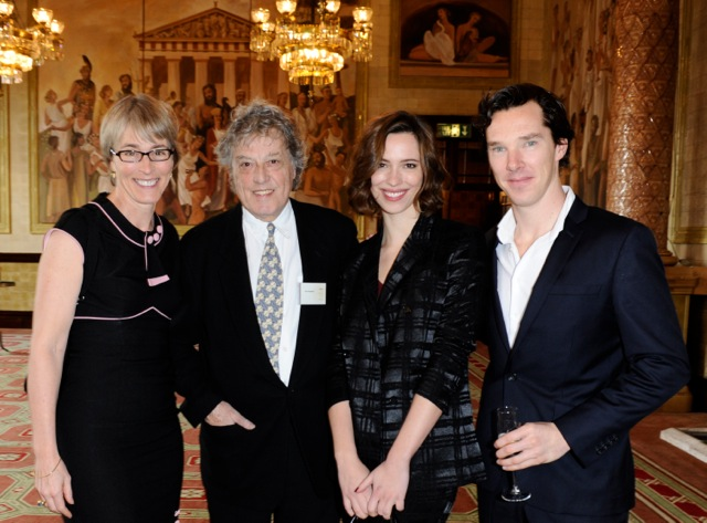 Kate with Sir Tom Stoppard, Rebecca Hall and Benedict Cumberbatch- winner of best Drama Series for Parade's End