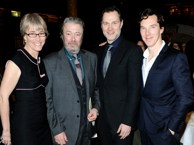 Kate with Roger Allam, David Morrisey and Benedict Cumberbatch