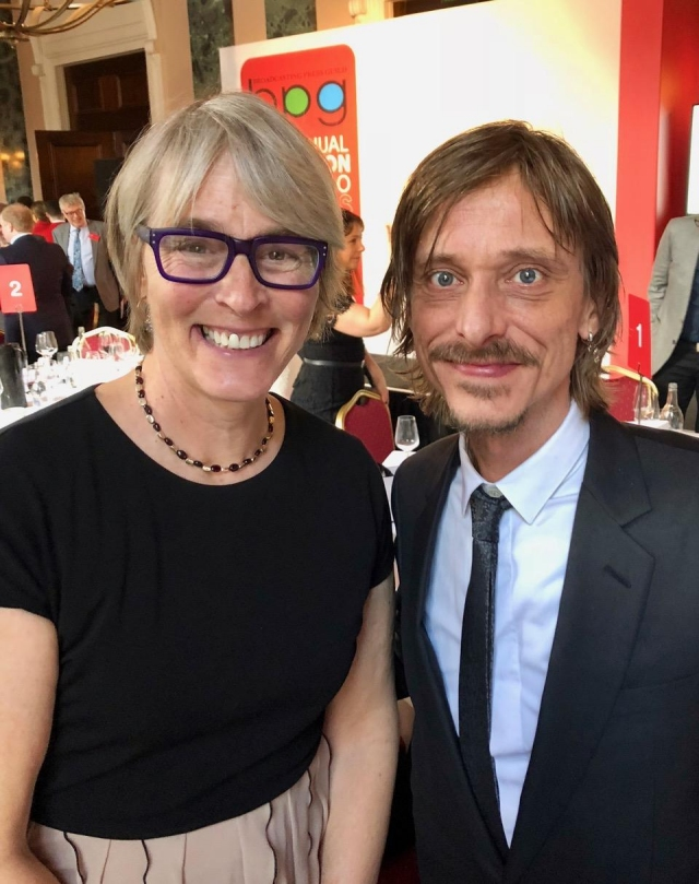 Kate and Mackenzie Crook, actor and writer, Detectorists