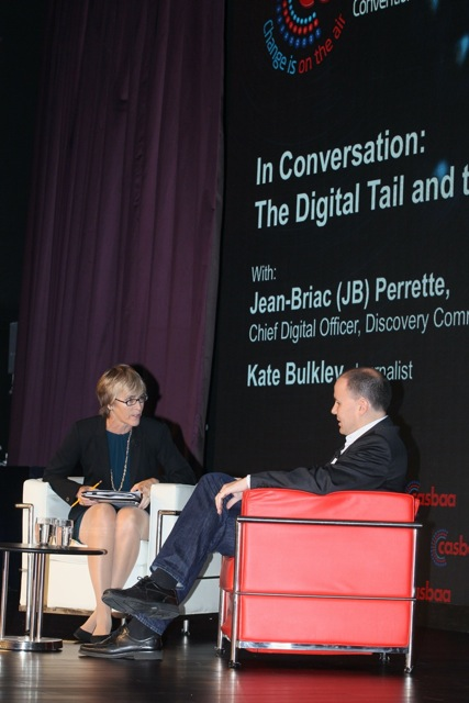 Kate with Jean-Briac Perrette, Chief Digital Officer, Discovery Communications