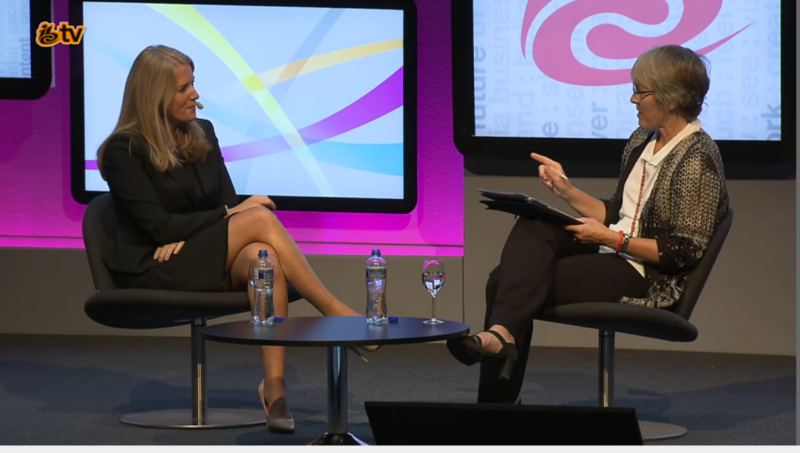 Kate interviews MD of BTTV and Sport Delia Bushell at IBC 2015 September 13 2015