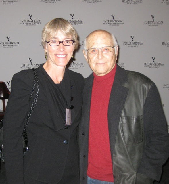 Kate Bulkley with Norman lear at the Emmys