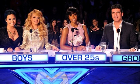 A platform for talent … Simon Cowell, pictured with judges on the US version of The X Factor, runs SycoTV, a Base79 partner. Photograph: Fox