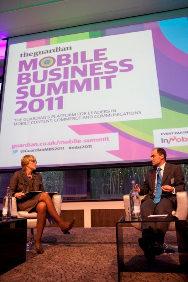 Kate interviews Warren East, CEO ARM at the Guardian Mobile Business Summit 2011
