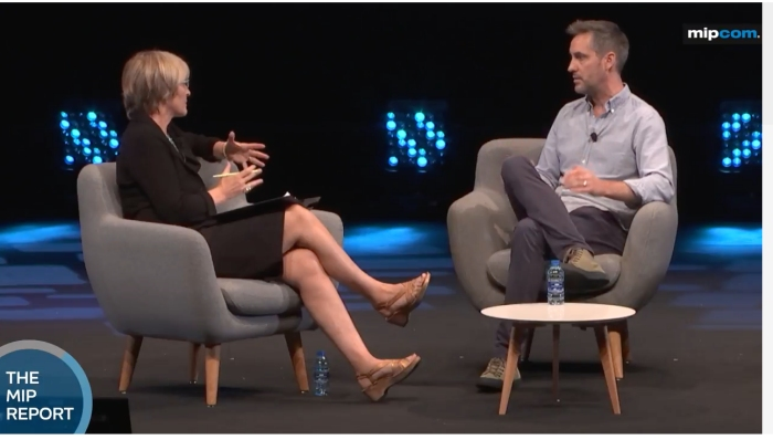 Kate interviews Sean Mills, head of original content at SnapChat at Mipcom 2017