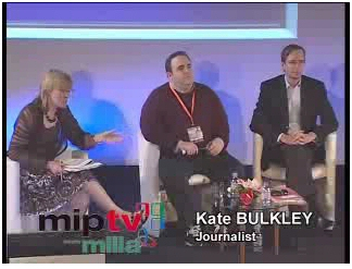 Kate moderating the TV's Burning Issues superpanel at the MIPTV Conference, 18th April 2007.