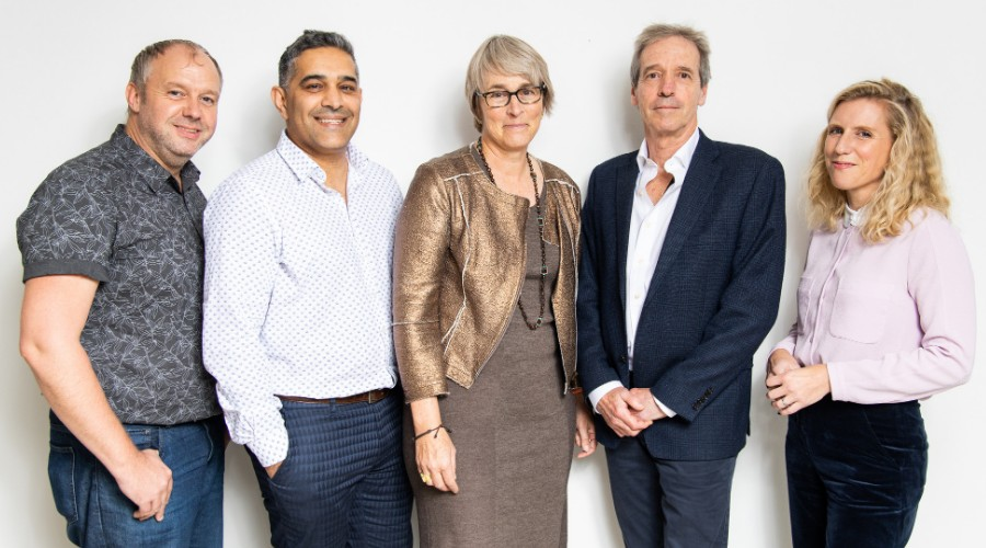 Greg Barnett, Saj Nazir, Kate Bulkley, Simon Wells and Emily Hudd (Picture Credit: Paul Hampartsoumian)